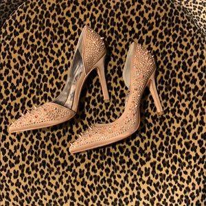 Sam Edelman rose gold studded d'orsay heels